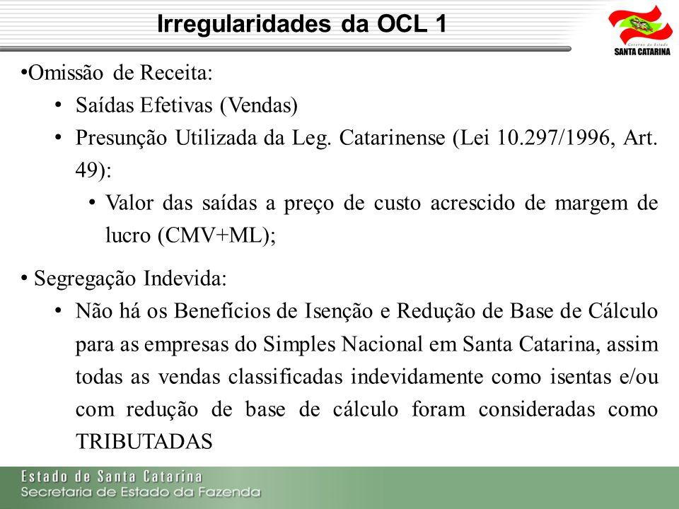 Irregularidades da OCL 1