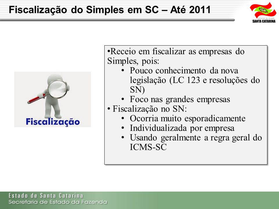 Fiscalização do Simples em SC – Até 2011