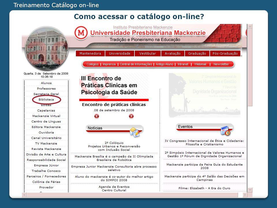Como acessar o catálogo on-line