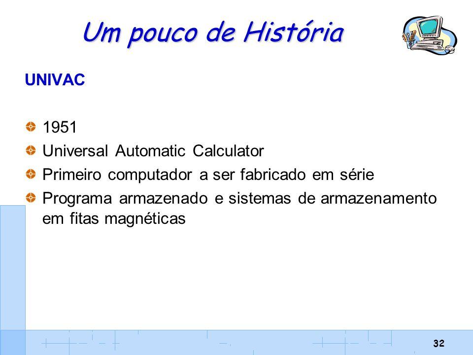 Um pouco de História UNIVAC 1951 Universal Automatic Calculator
