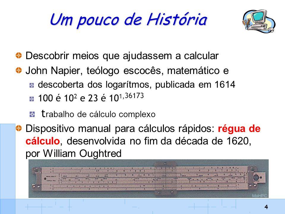 Um pouco de História trabalho de cálculo complexo