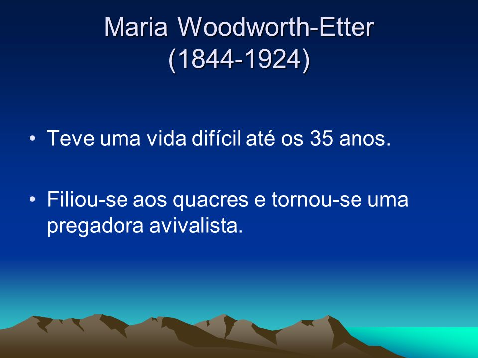 Maria Woodworth-Etter (1844-1924)