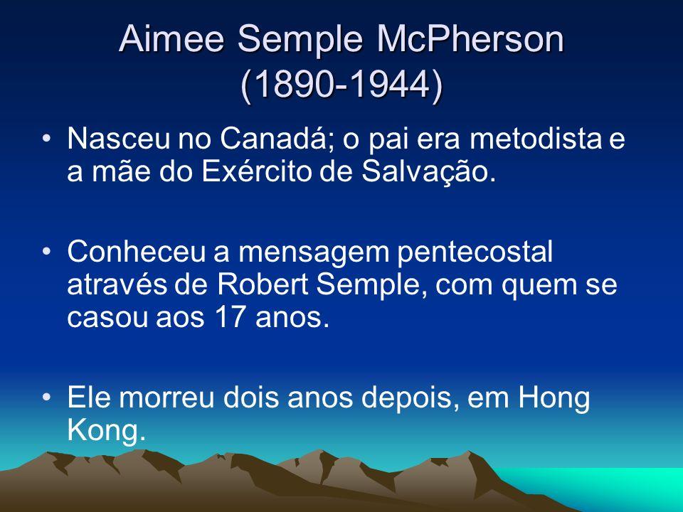 Aimee Semple McPherson (1890-1944)