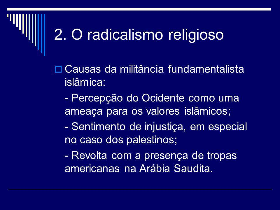 2. O radicalismo religioso