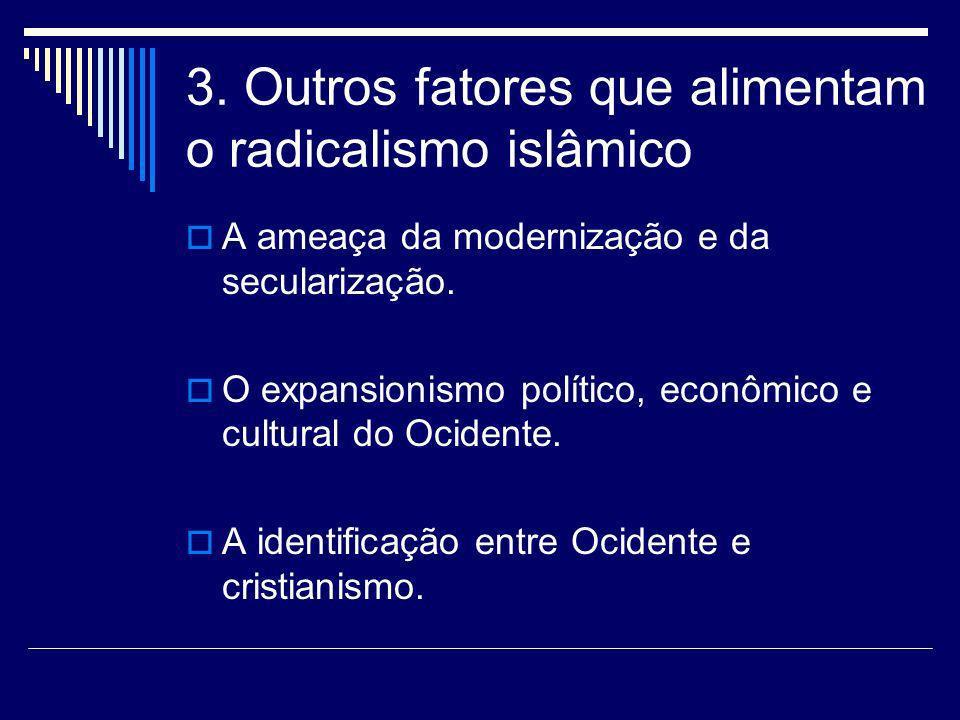 3. Outros fatores que alimentam o radicalismo islâmico