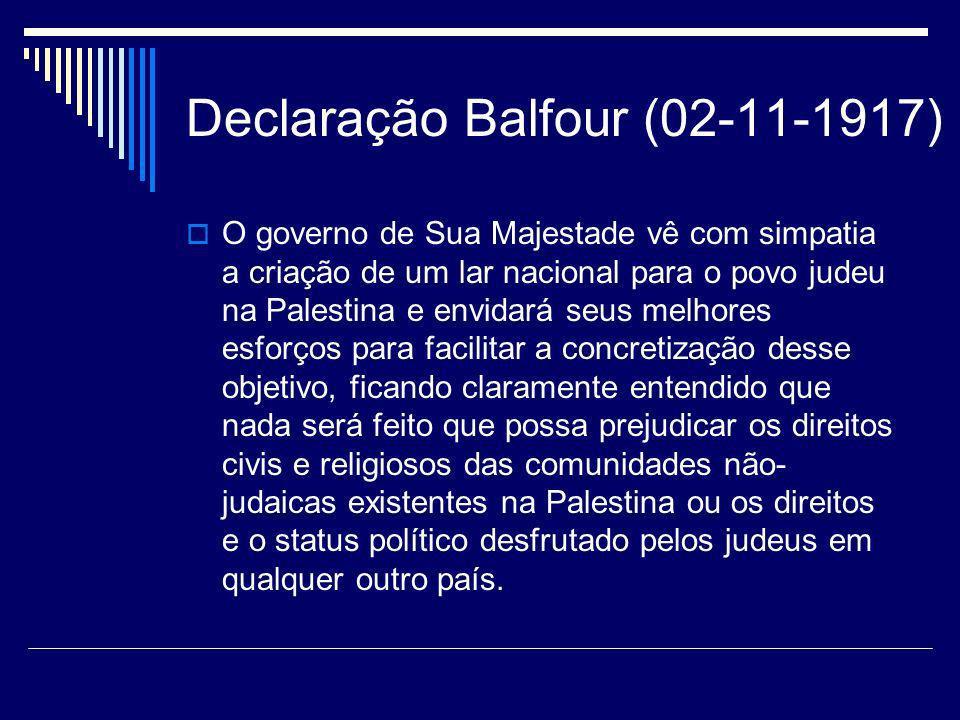 Declaração Balfour (02-11-1917)