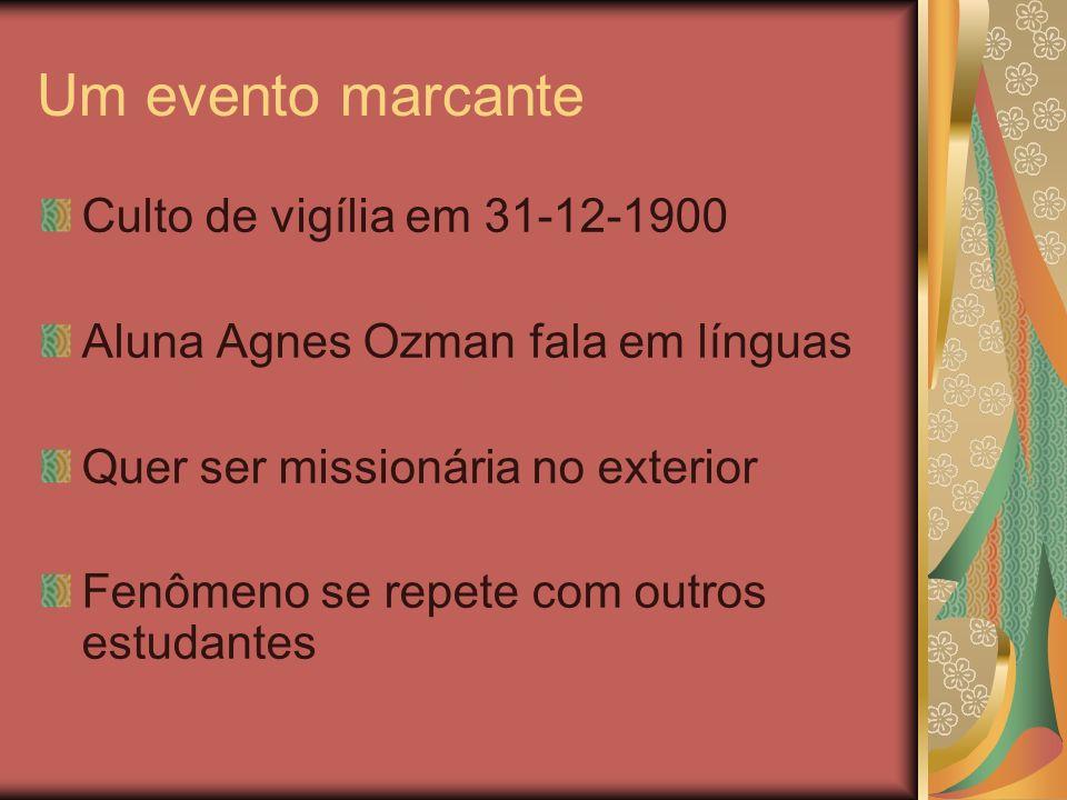 Um evento marcante Culto de vigília em 31-12-1900
