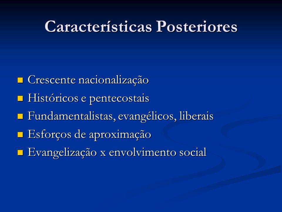 Características Posteriores
