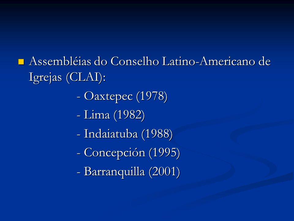 Assembléias do Conselho Latino-Americano de Igrejas (CLAI):