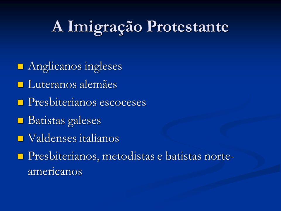 A Imigração Protestante