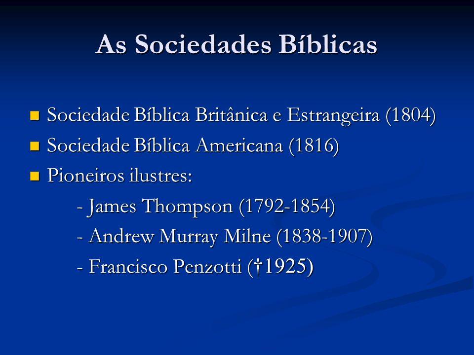 As Sociedades Bíblicas