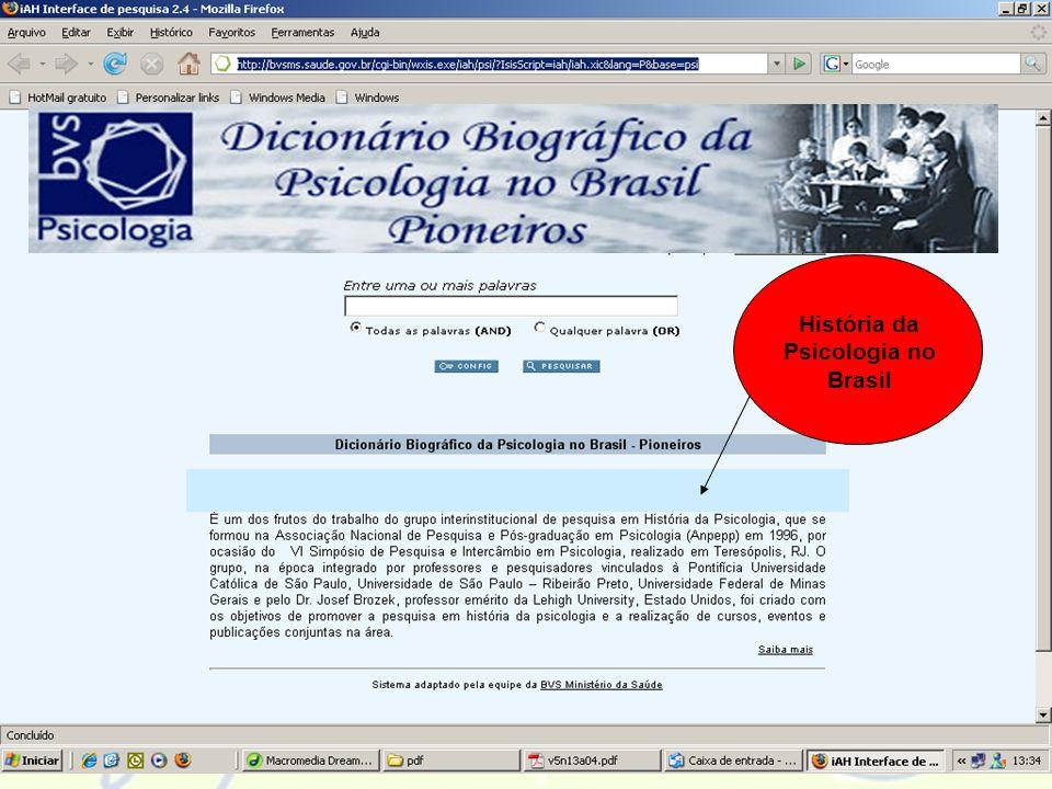 História da Psicologia no Brasil