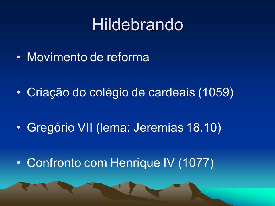 Hildebrando Movimento de reforma Criação do colégio de cardeais (1059)