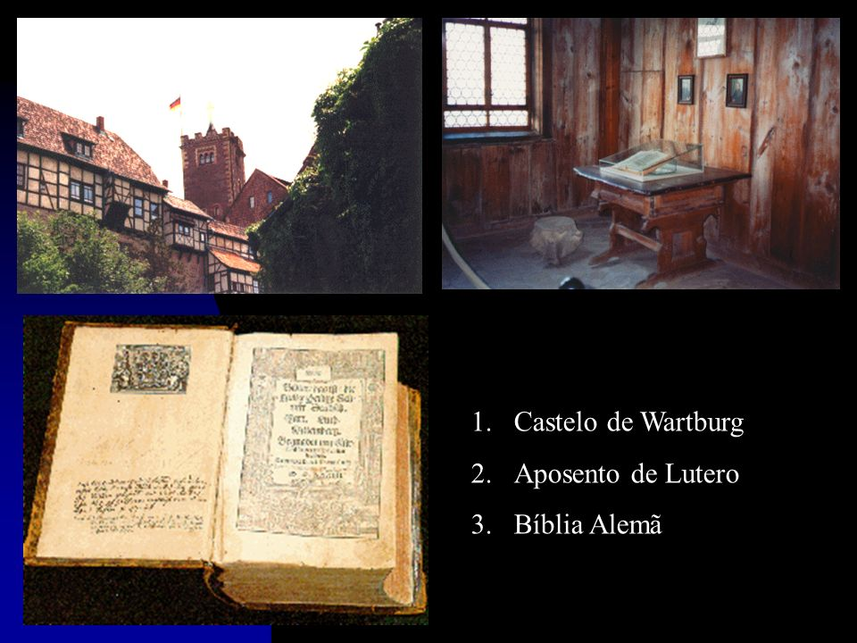 Castelo de Wartburg Aposento de Lutero Bíblia Alemã
