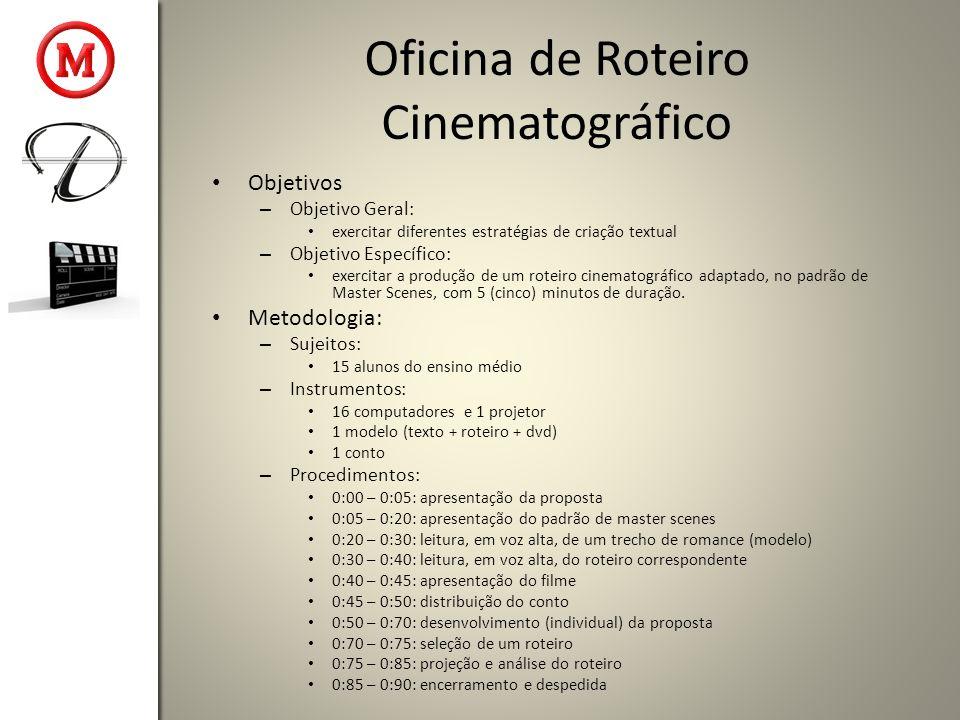 Oficina de Roteiro Cinematográfico