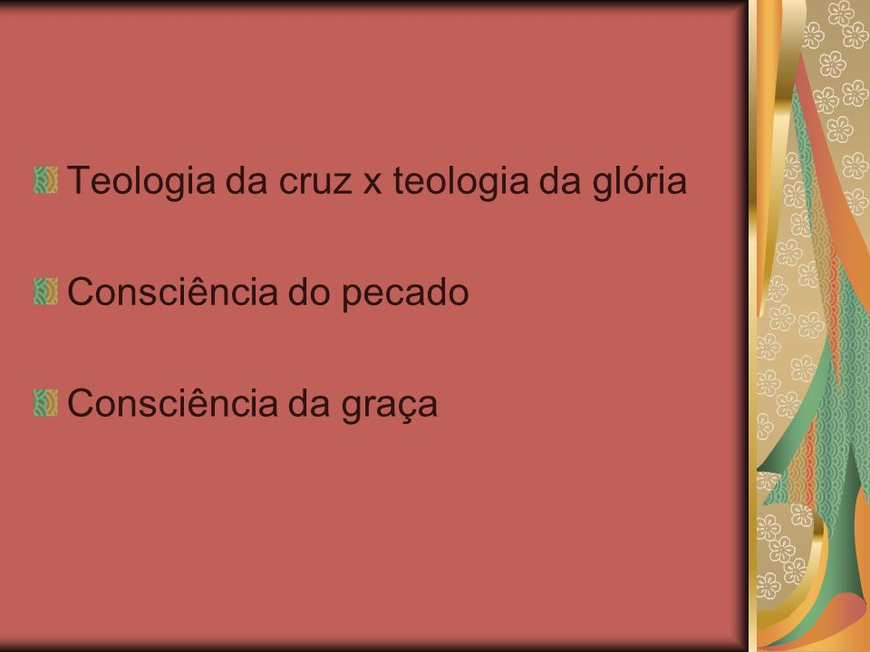 Teologia da cruz x teologia da glória
