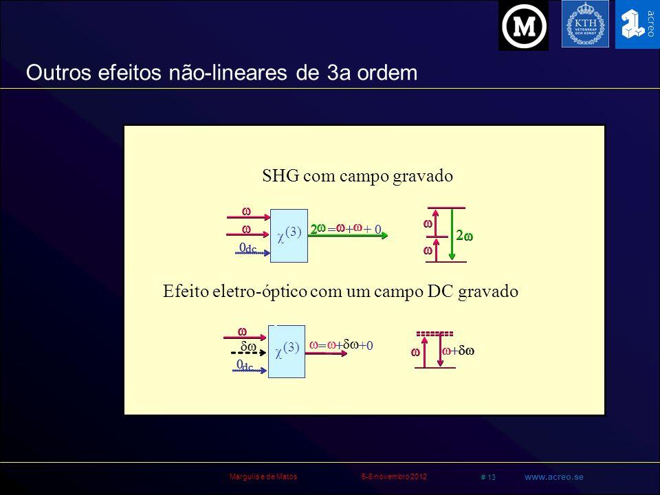 Outros efeitos não-lineares de 3a ordem
