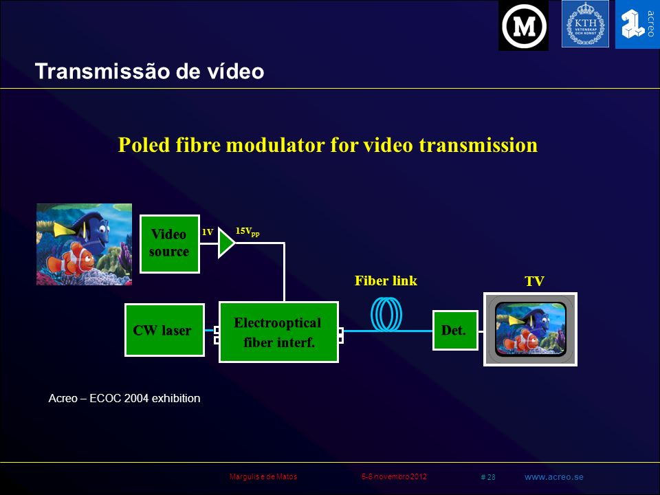 Poled fibre modulator for video transmission