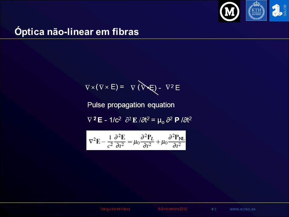 Óptica não-linear em fibras