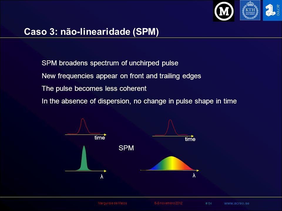 Caso 3: não-linearidade (SPM)