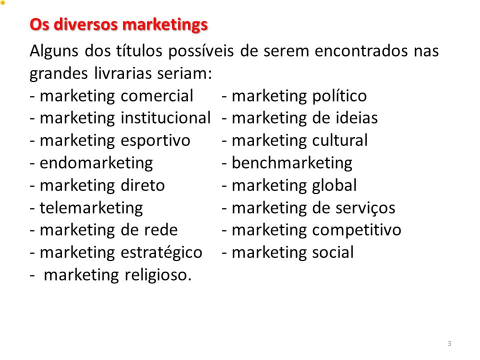 Os diversos marketings