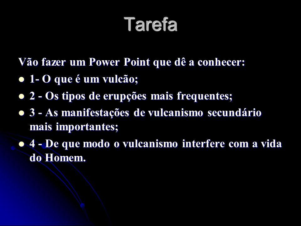 Tarefa Vão fazer um Power Point que dê a conhecer: