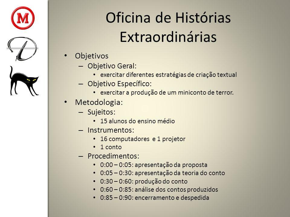 Oficina de Histórias Extraordinárias