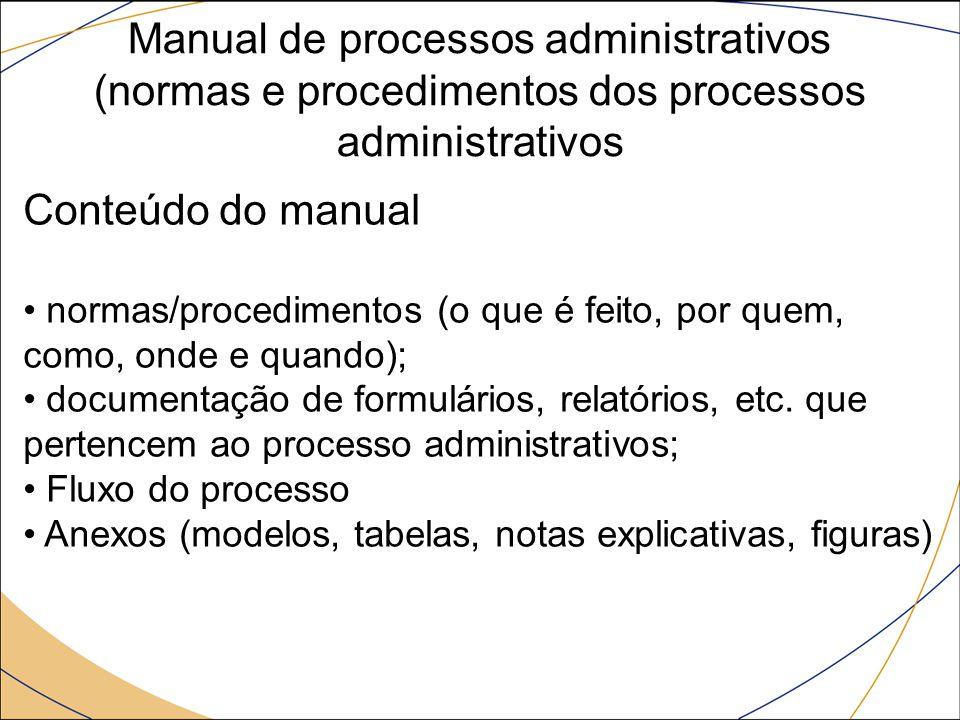 Manual de processos administrativos (normas e procedimentos dos processos administrativos