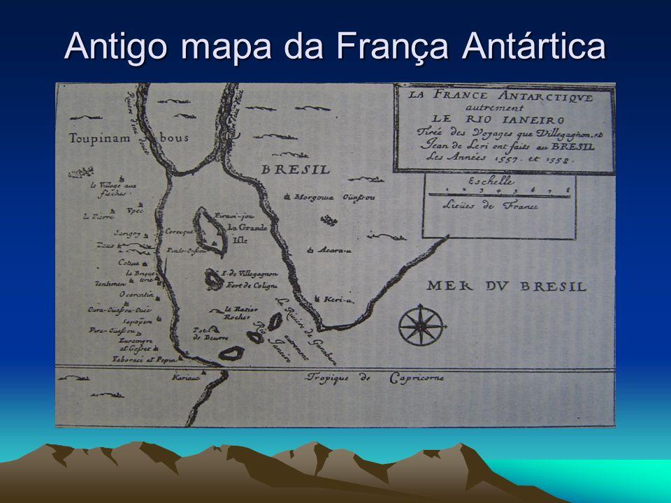 Antigo mapa da França Antártica
