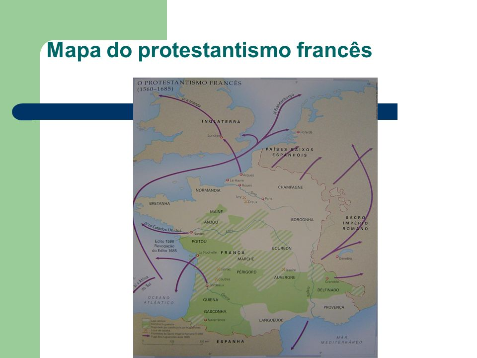 Mapa do protestantismo francês