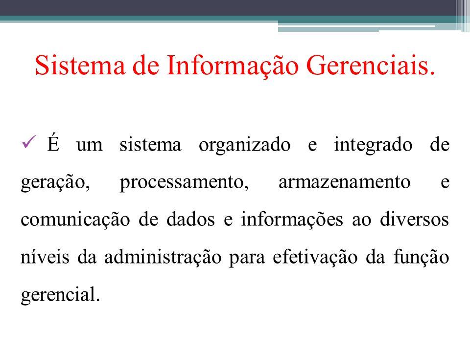 Sistema de Informação Gerenciais.