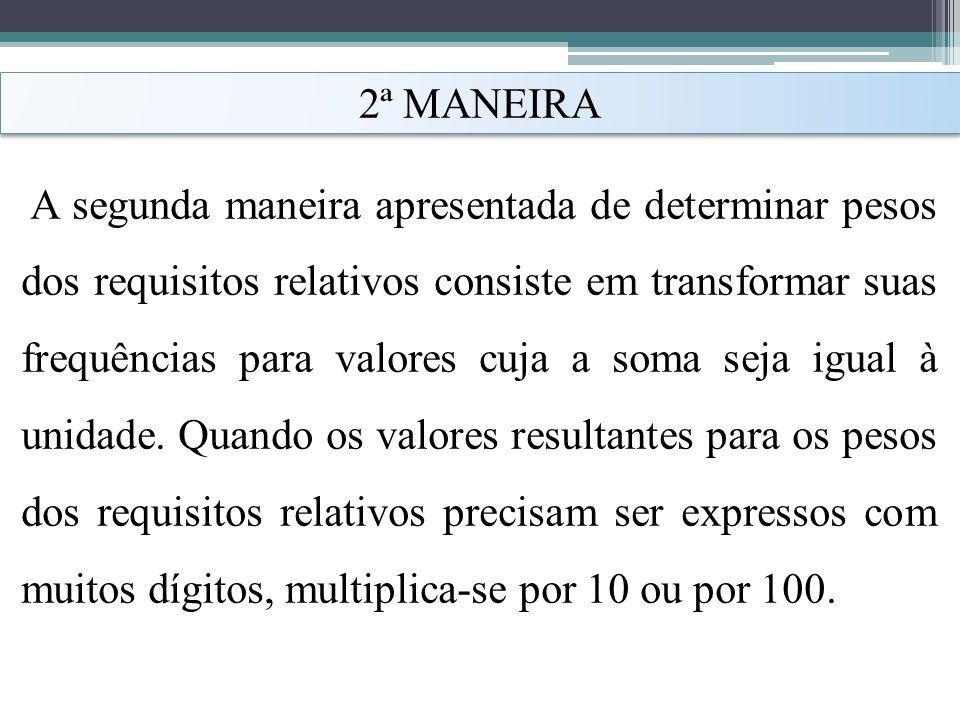 2ª MANEIRA