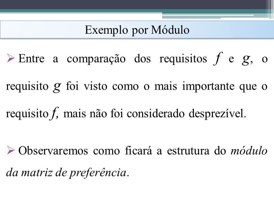 Exemplo por Módulo