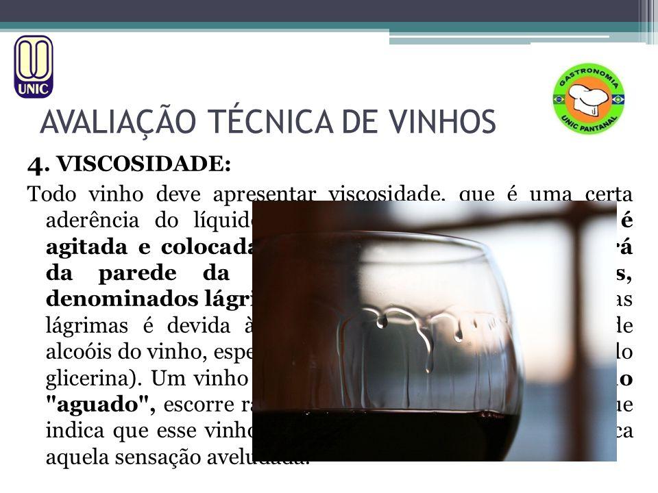 AVALIAÇÃO TÉCNICA DE VINHOS