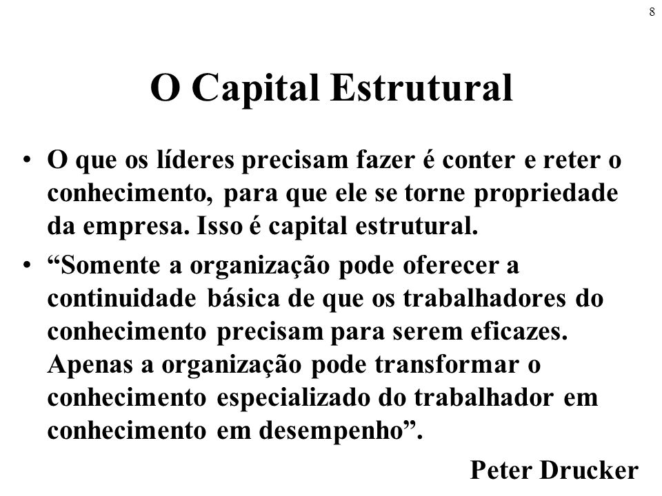 O Capital Estrutural
