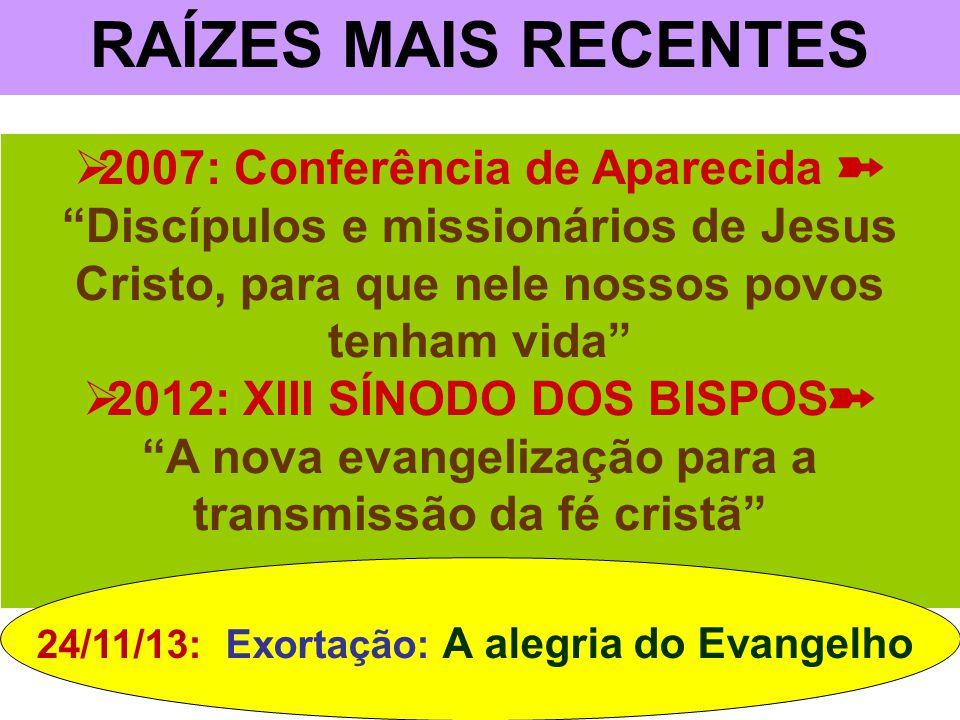 RAÍZES MAIS RECENTES 2007: Conferência de Aparecida ➽ Discípulos e missionários de Jesus Cristo, para que nele nossos povos tenham vida