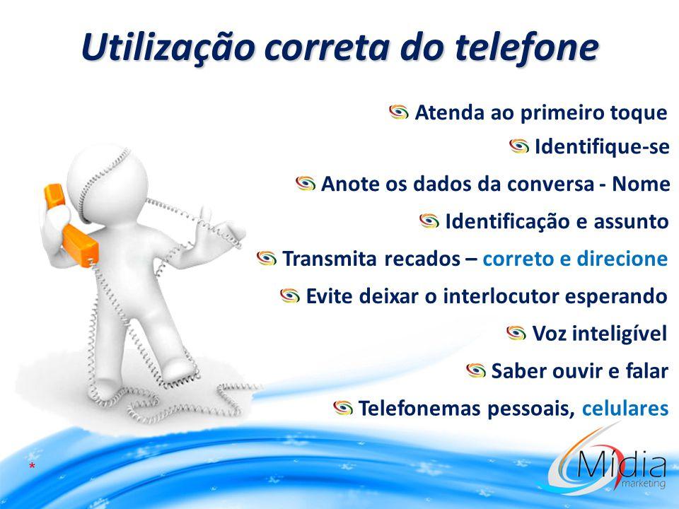 Utilização correta do telefone