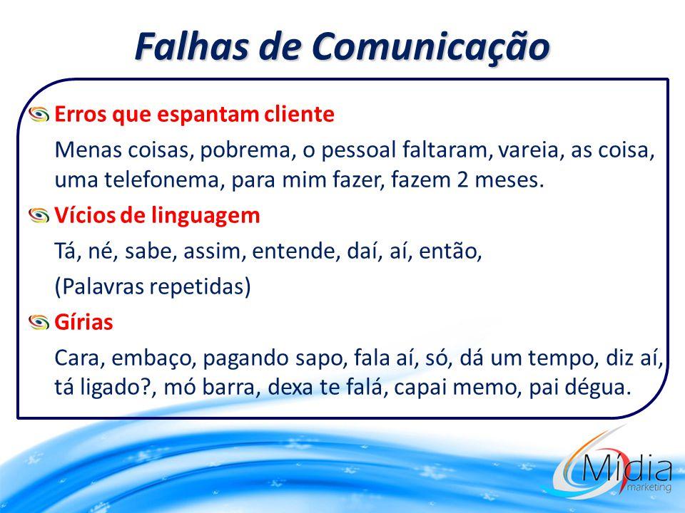 Falhas de Comunicação Erros que espantam cliente