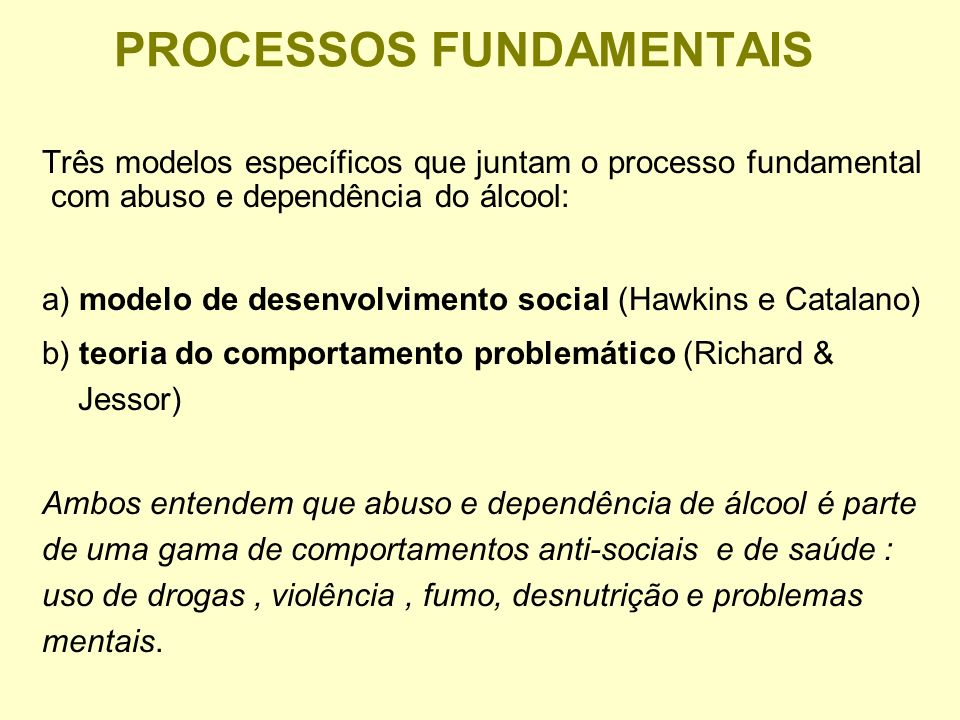 PROCESSOS FUNDAMENTAIS