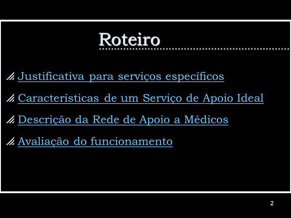 Roteiro Justificativa para serviços específicos