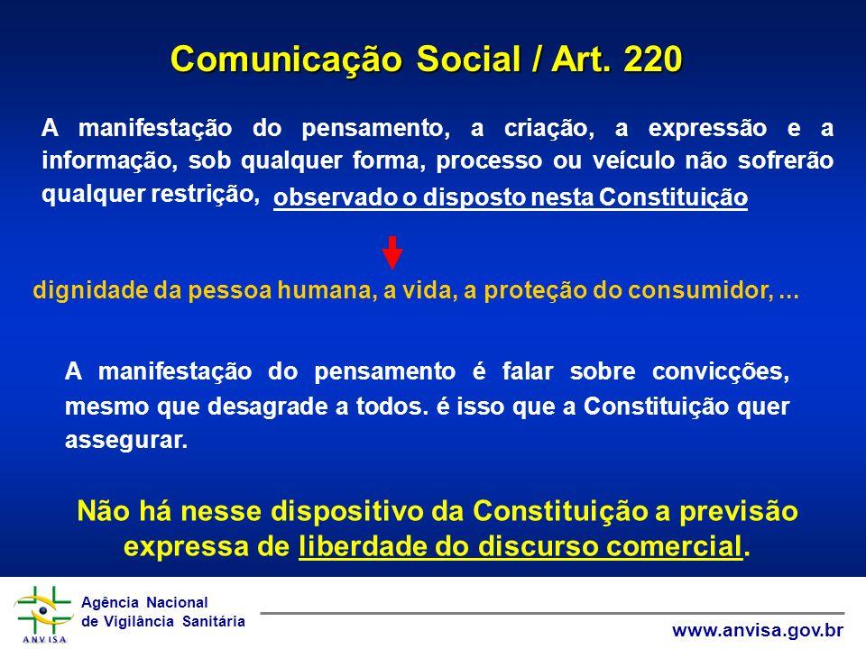 Comunicação Social / Art. 220