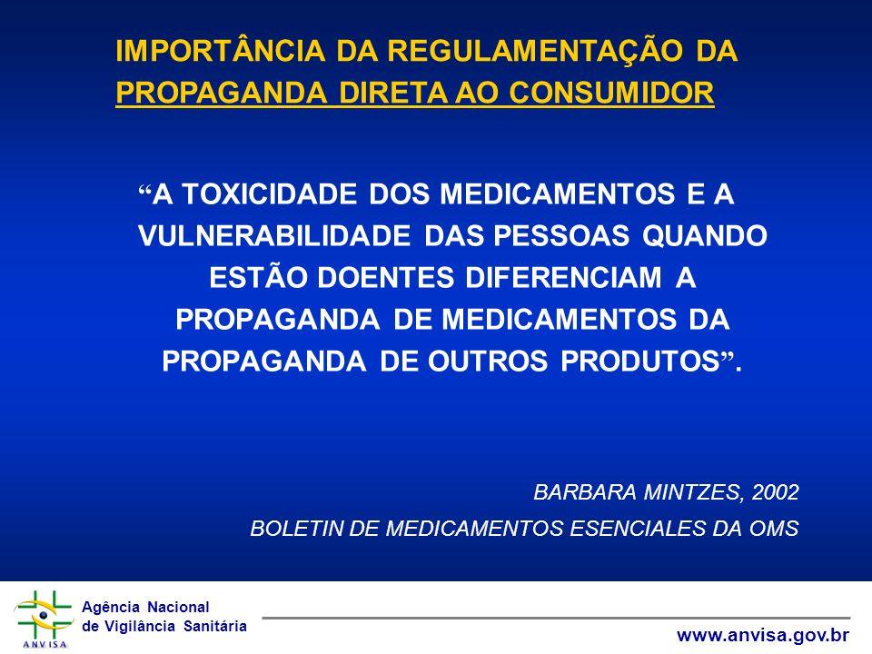 IMPORTÂNCIA DA REGULAMENTAÇÃO DA PROPAGANDA DIRETA AO CONSUMIDOR