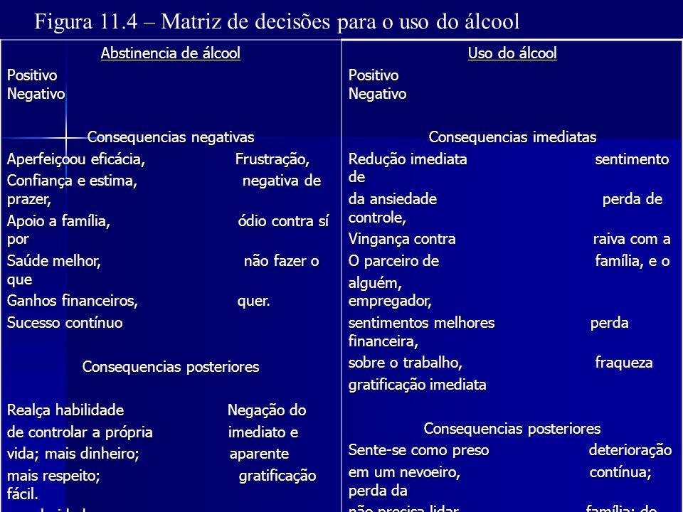 Figura 11.4 – Matriz de decisões para o uso do álcool