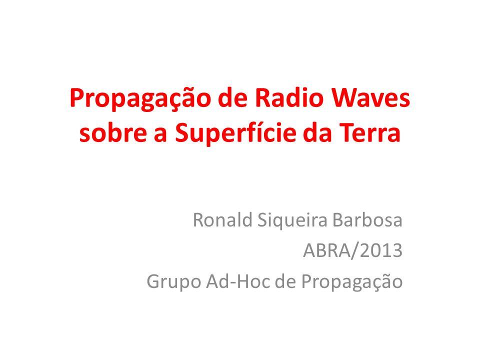 Propagação de Radio Waves sobre a Superfície da Terra