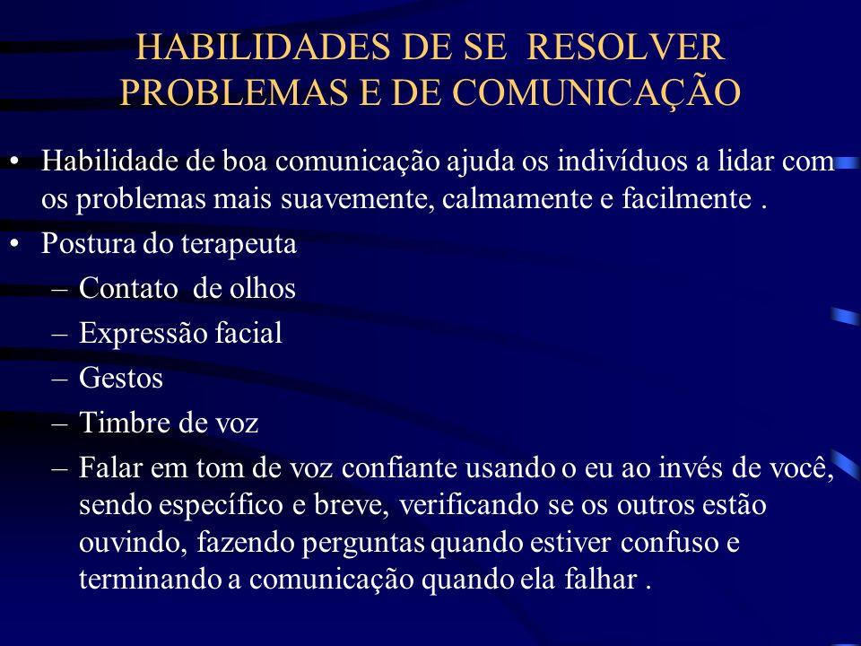 HABILIDADES DE SE RESOLVER PROBLEMAS E DE COMUNICAÇÃO
