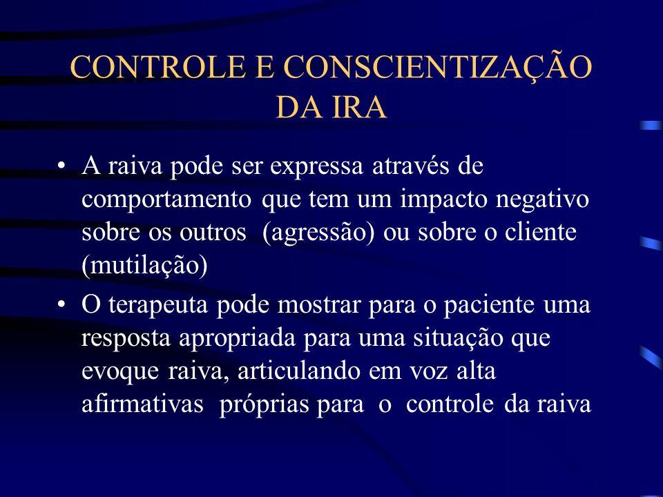 CONTROLE E CONSCIENTIZAÇÃO DA IRA