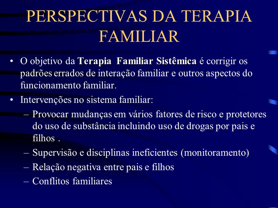 PERSPECTIVAS DA TERAPIA FAMILIAR