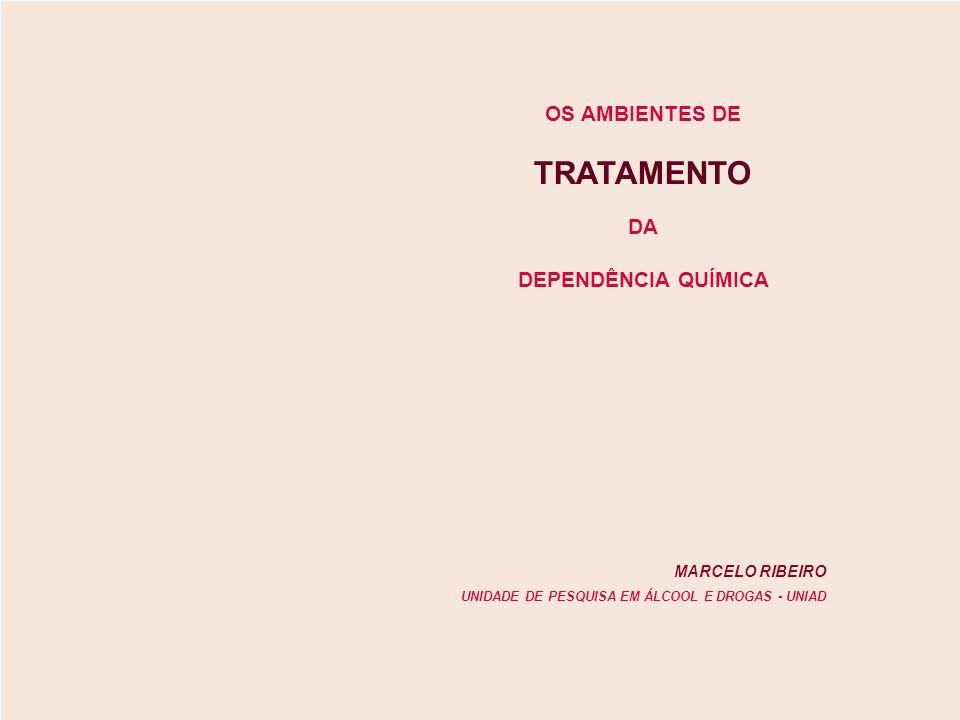 TRATAMENTO OS AMBIENTES DE DA DEPENDÊNCIA QUÍMICA MARCELO RIBEIRO