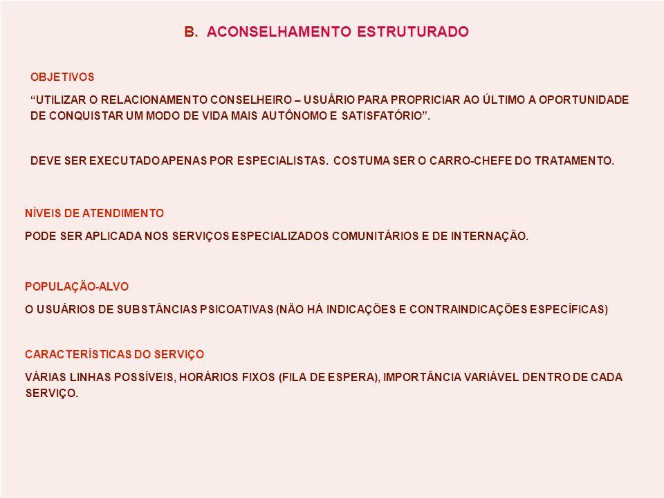 B. ACONSELHAMENTO ESTRUTURADO