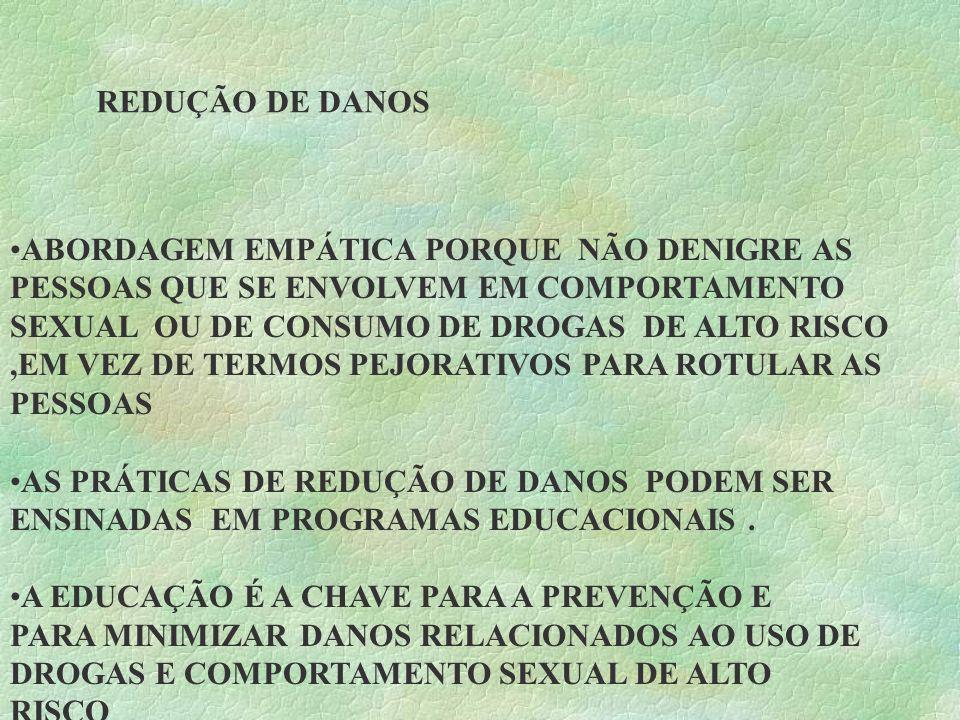 REDUÇÃO DE DANOS